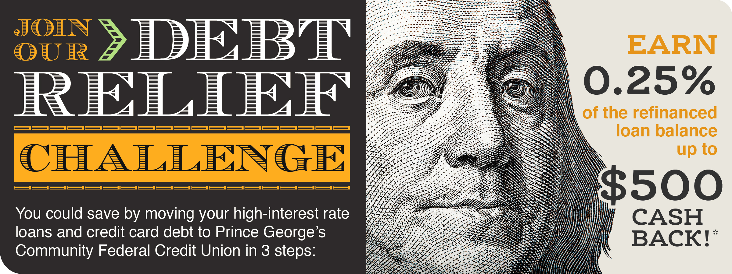 Join our debt relief challenge